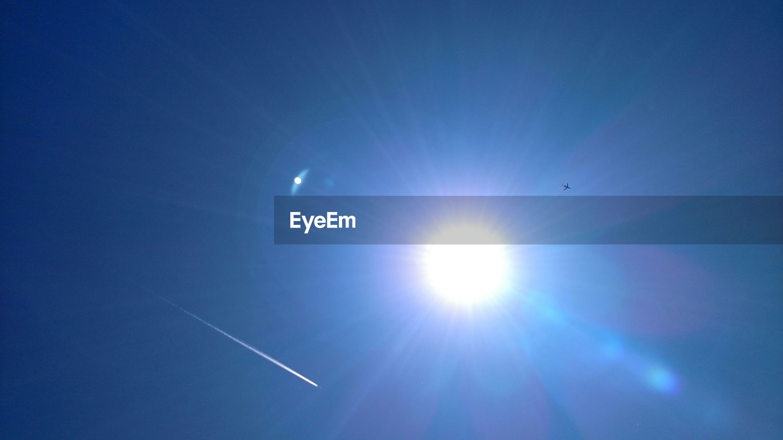 View of sun on clear sky