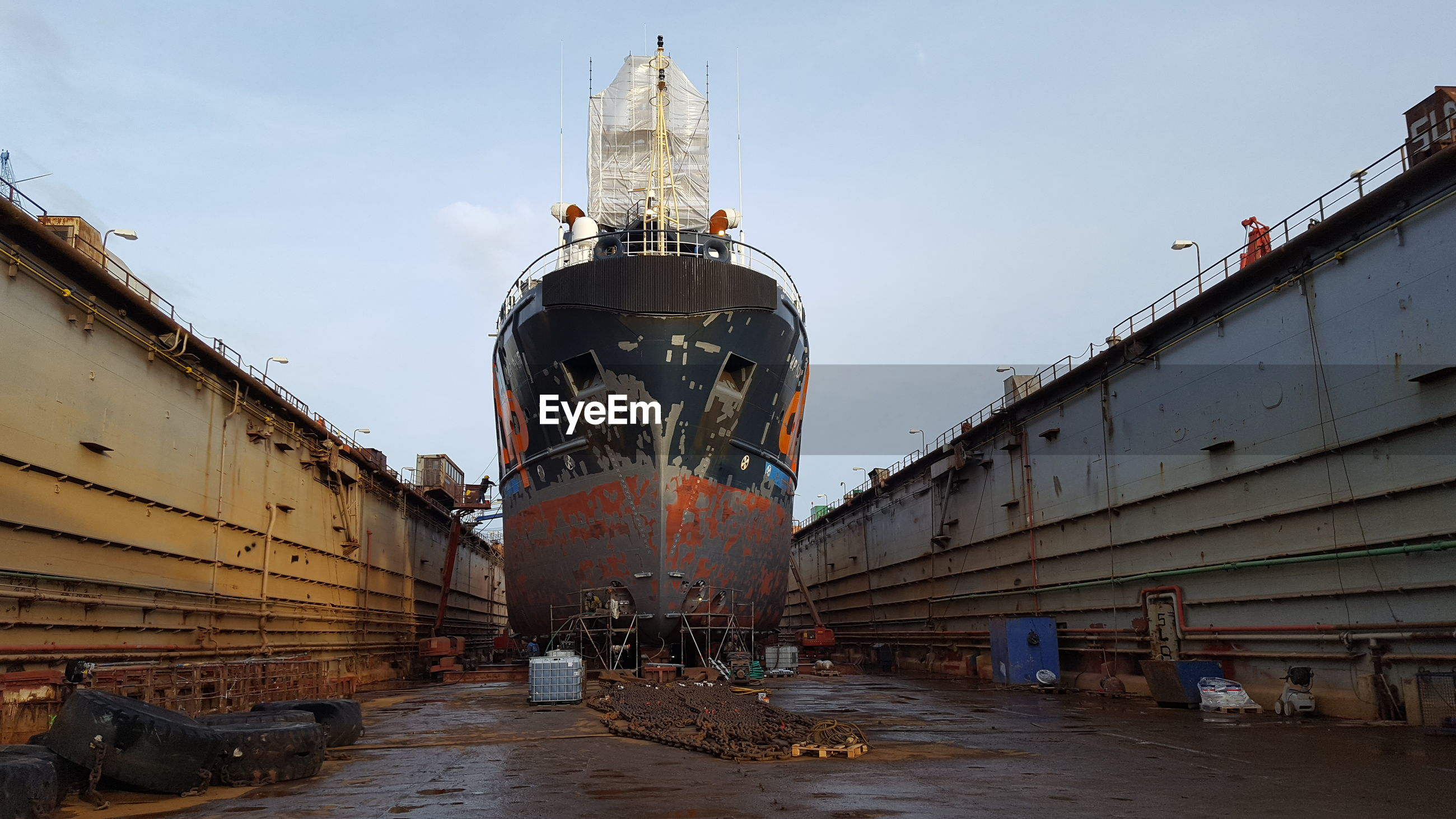 VIEW OF ABANDONED SHIP