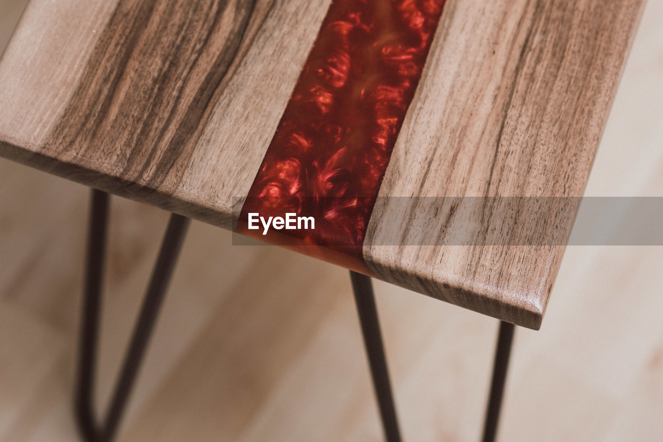 High angle view of resin on table