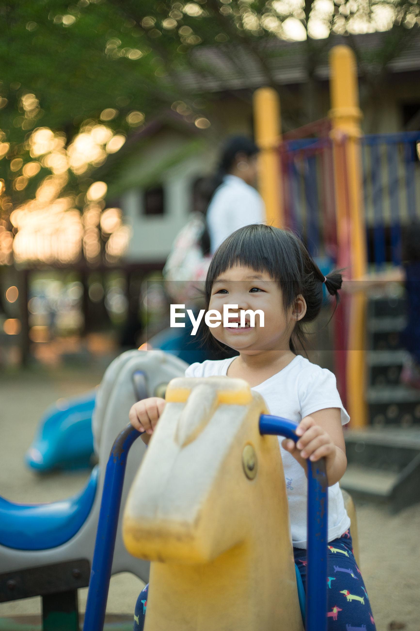 Cute girl playing at park
