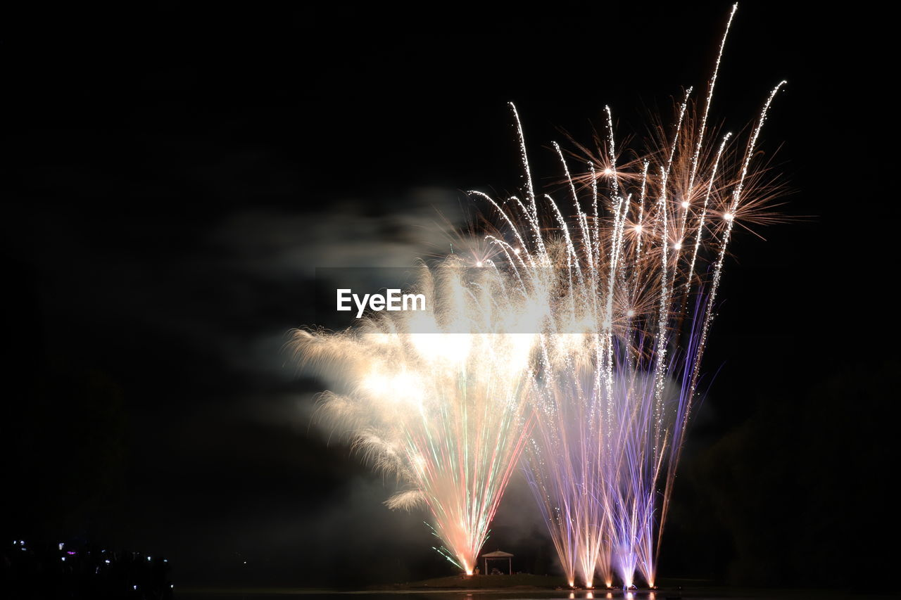 FIREWORKS IN SKY AT NIGHT