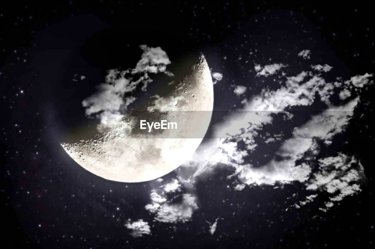 Scenic view of moon in sky