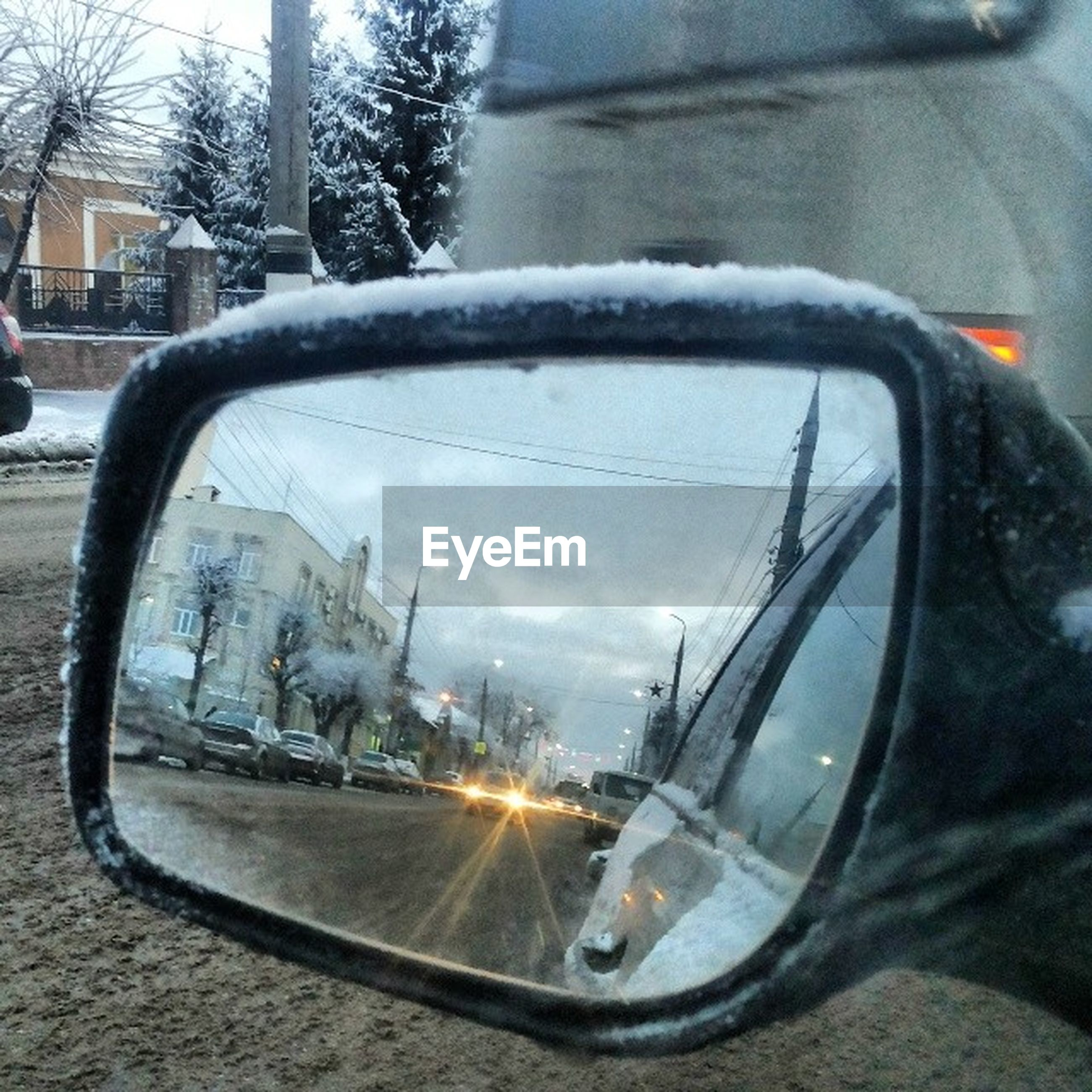 transportation, mode of transport, land vehicle, car, side-view mirror, street, road, reflection, travel, on the move, stationary, sky, vehicle interior, part of, tree, vehicle, bicycle, car interior, cropped, windshield