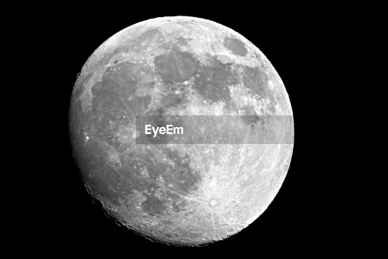 SCENIC VIEW OF MOON OVER BLACK BACKGROUND