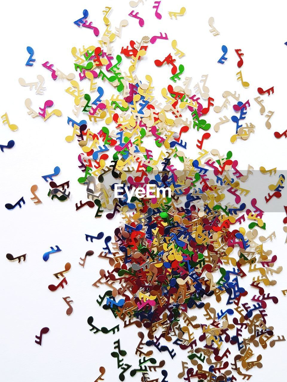 multi colored, white background, large group of objects, colorful, variation, studio shot, abundance, high angle view, confetti, no people, indoors, close-up, day