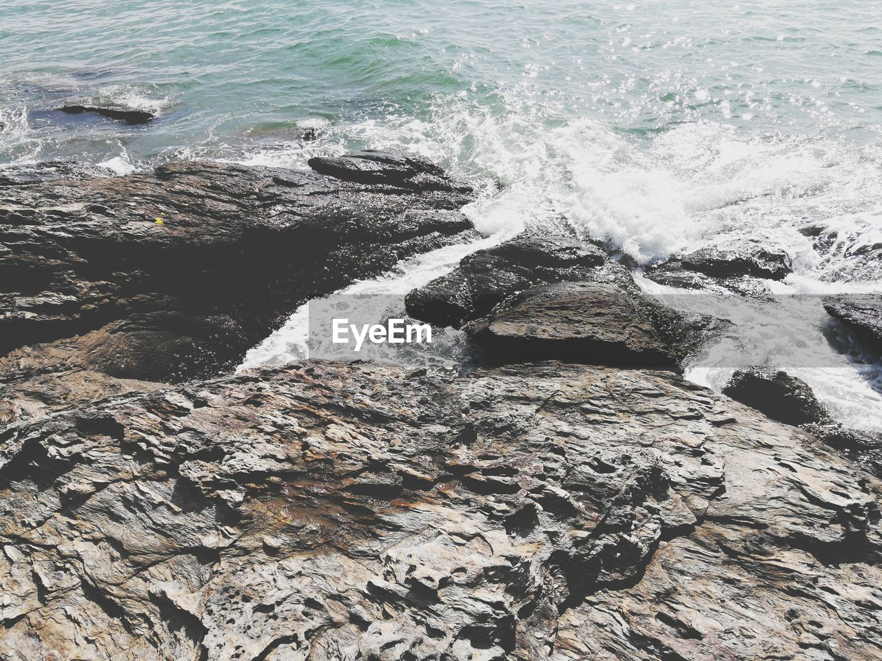 motion, water, nature, rock - object, beauty in nature, no people, day, outdoors, sea, wave, power in nature, scenics, force