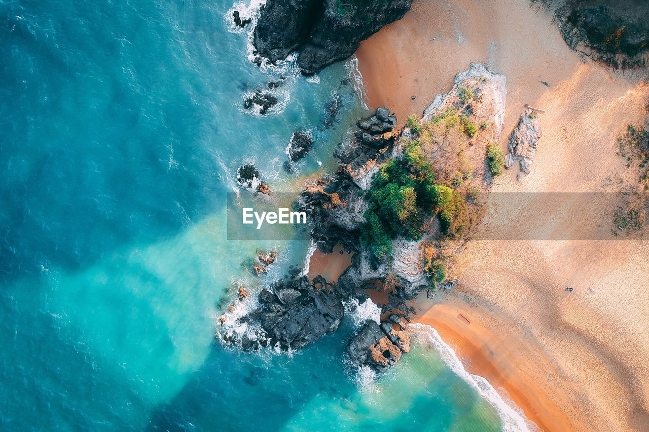 water, sea, high angle view, nature, land, beauty in nature, day, scenics - nature, rock, solid, rock - object, beach, tranquil scene, tranquility, outdoors, no people, non-urban scene, aerial view, idyllic, turquoise colored, swimming pool