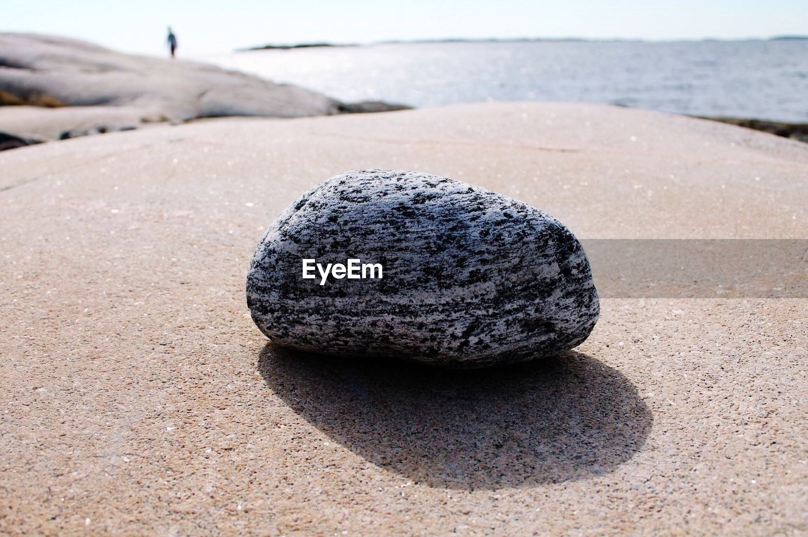 Pebble on rock formation
