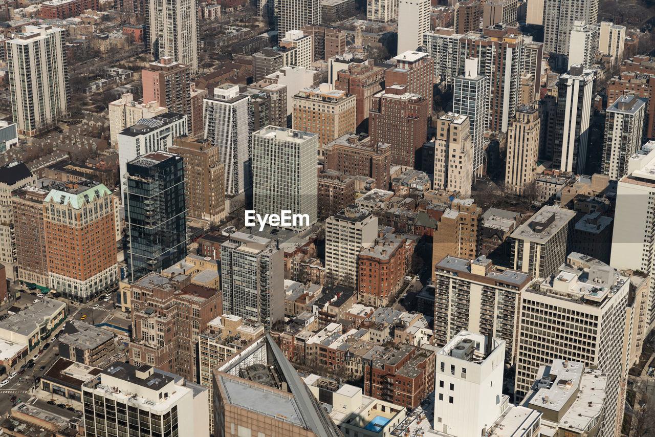 Full frame shot of modern cityscape