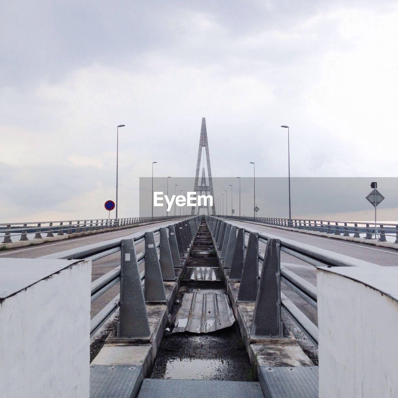 BRIDGE BY WATER AGAINST SKY