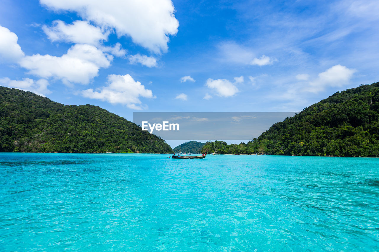 SCENIC VIEW OF BLUE SEA AGAINST SKY