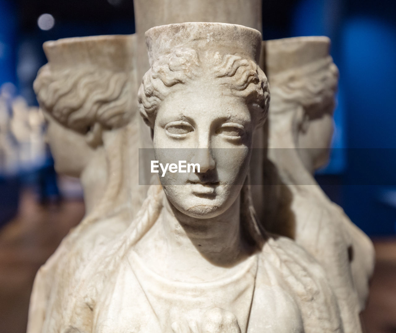 Close-Up Of Ancient Sculptures