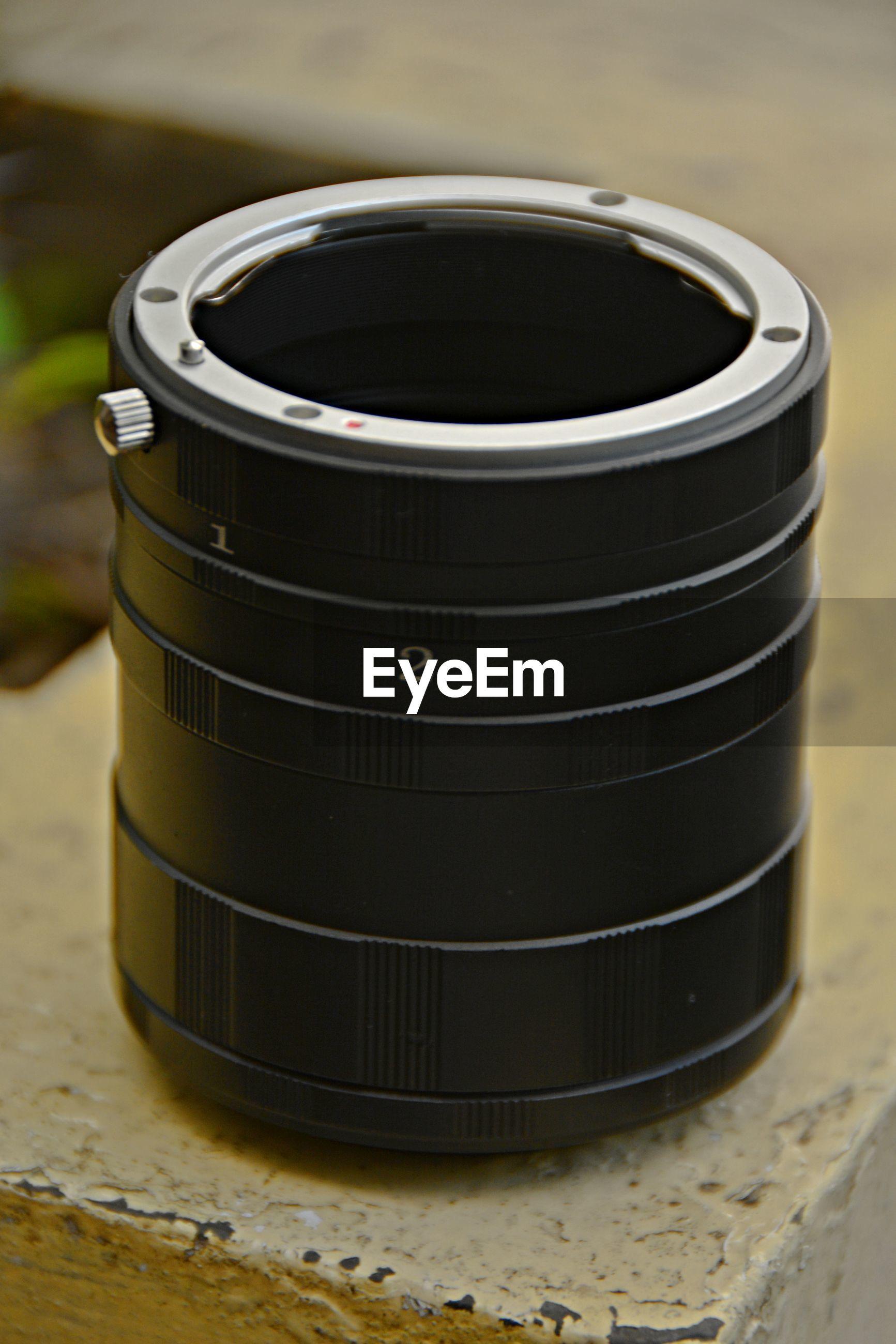 Close up of photographic equipment
