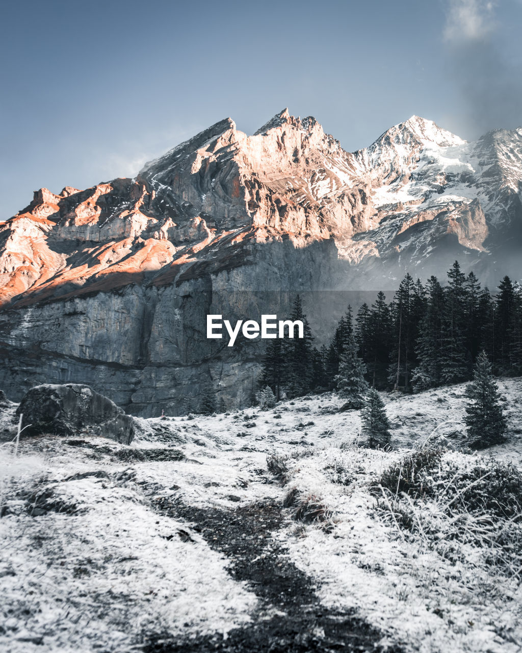 beauty in nature, mountain, scenics - nature, sky, tranquil scene, tranquility, winter, snow, non-urban scene, cold temperature, mountain range, environment, nature, landscape, idyllic, snowcapped mountain, rock, no people, geology, mountain peak, formation, high