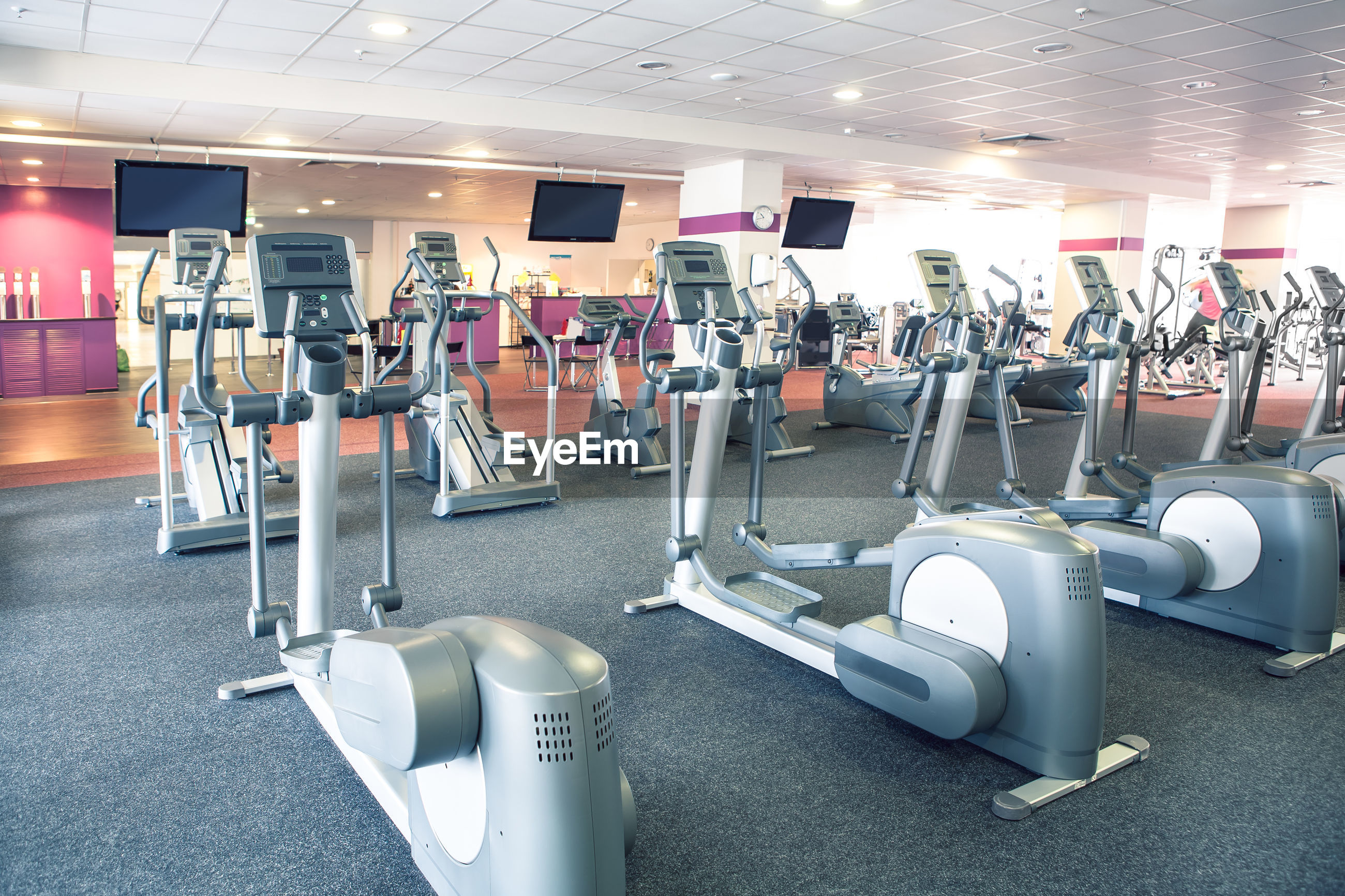 Exercise machines at gym