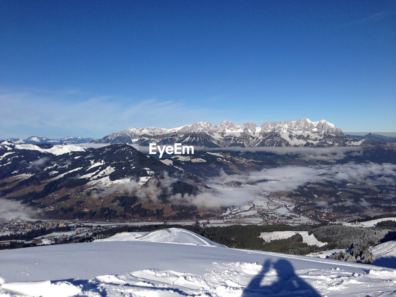 snow, cold temperature, winter, mountain, scenics - nature, sky, beauty in nature, snowcapped mountain, environment, tranquil scene, mountain range, landscape, blue, tranquility, nature, white color, non-urban scene, day, covering, no people, outdoors, mountain peak