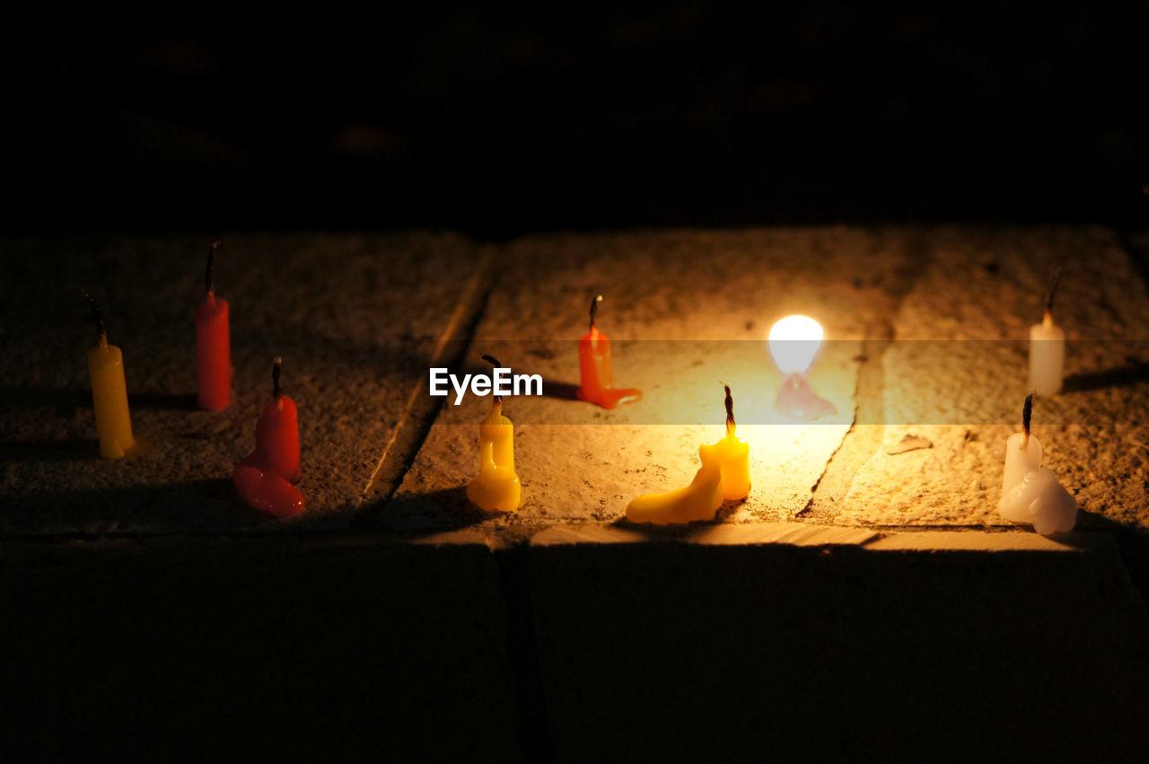 candle, flame, burning, heat - temperature, glowing, night, illuminated, indoors, no people, lighting equipment, spirituality, close-up, diya - oil lamp, oil lamp