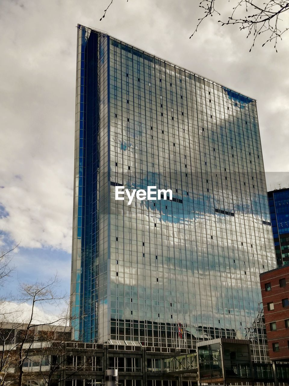 building exterior, built structure, sky, architecture, cloud - sky, building, low angle view, city, nature, no people, office, day, office building exterior, modern, outdoors, glass - material, tall - high, tower, reflection, development, skyscraper
