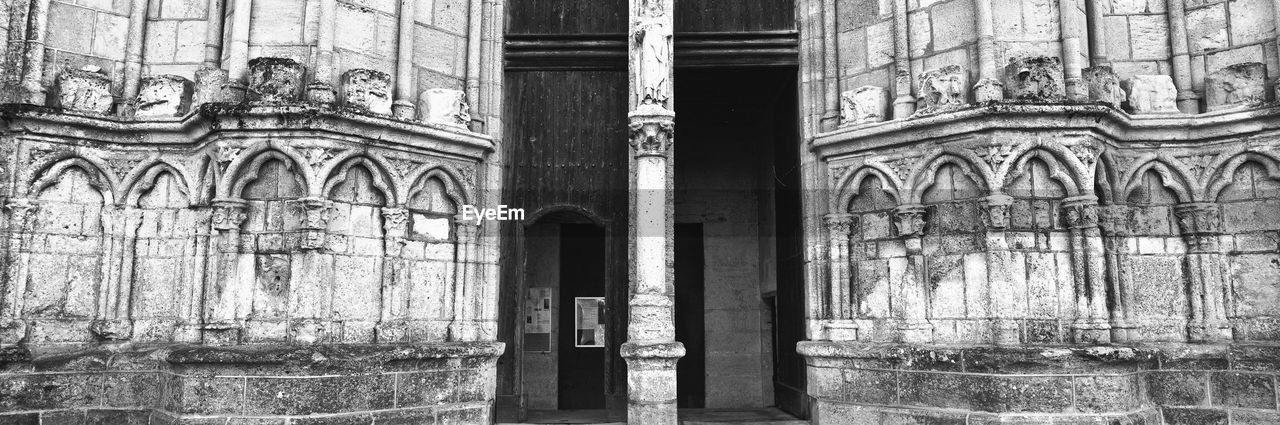 architecture, built structure, the past, building exterior, building, history, day, belief, no people, religion, arch, old, window, spirituality, architectural column, place of worship, entrance, door, outdoors, gothic style