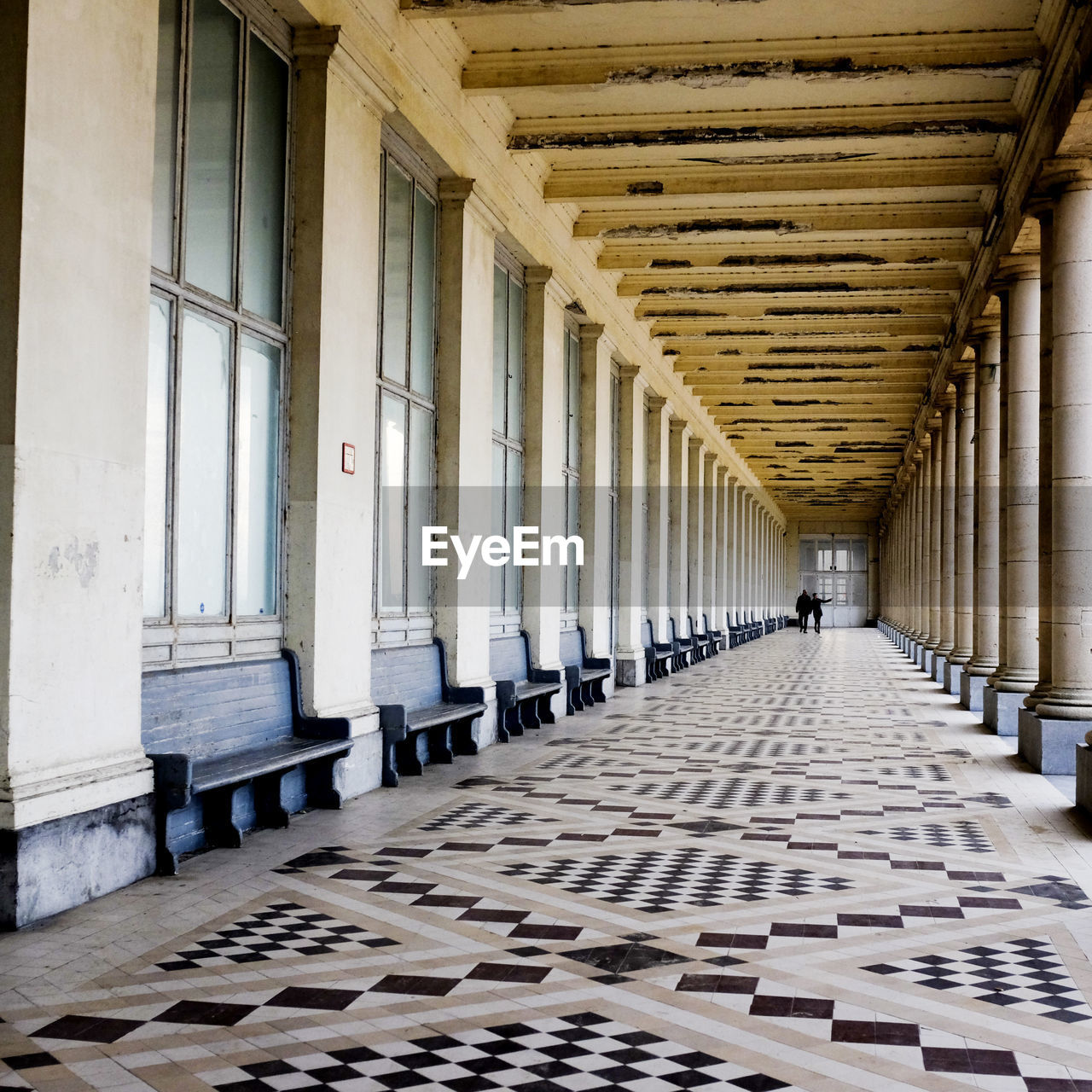 architecture, architectural column, built structure, the way forward, history, day, indoors, one person, people