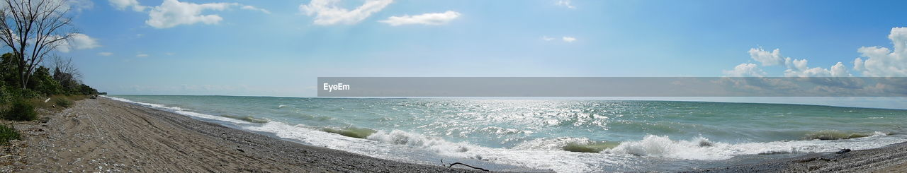 sea, water, beauty in nature, horizon over water, scenics, nature, sky, tranquil scene, beach, tranquility, wave, no people, blue, outdoors, cloud - sky, day