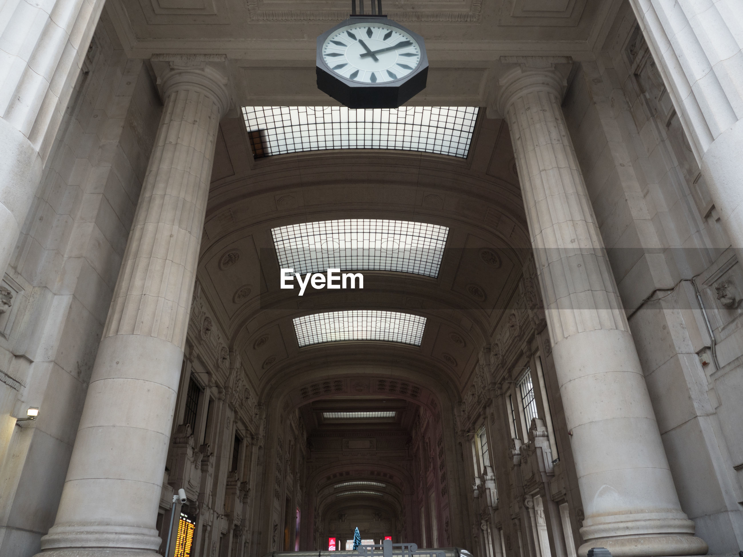 Low angle view of milan central railway station