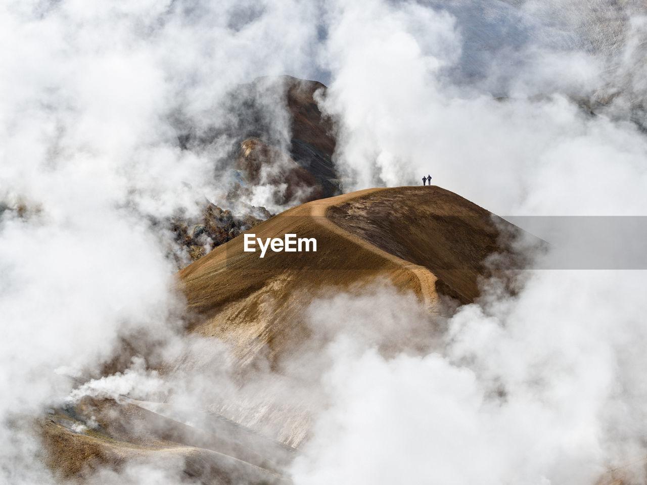 SMOKE EMITTING FROM VOLCANIC LAND