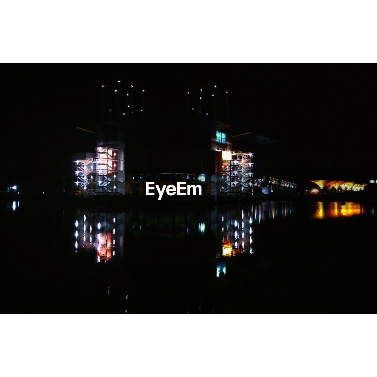 illuminated, night, reflection, architecture, no people, building exterior, built structure, water, outdoors, symmetry, nautical vessel, city, sky