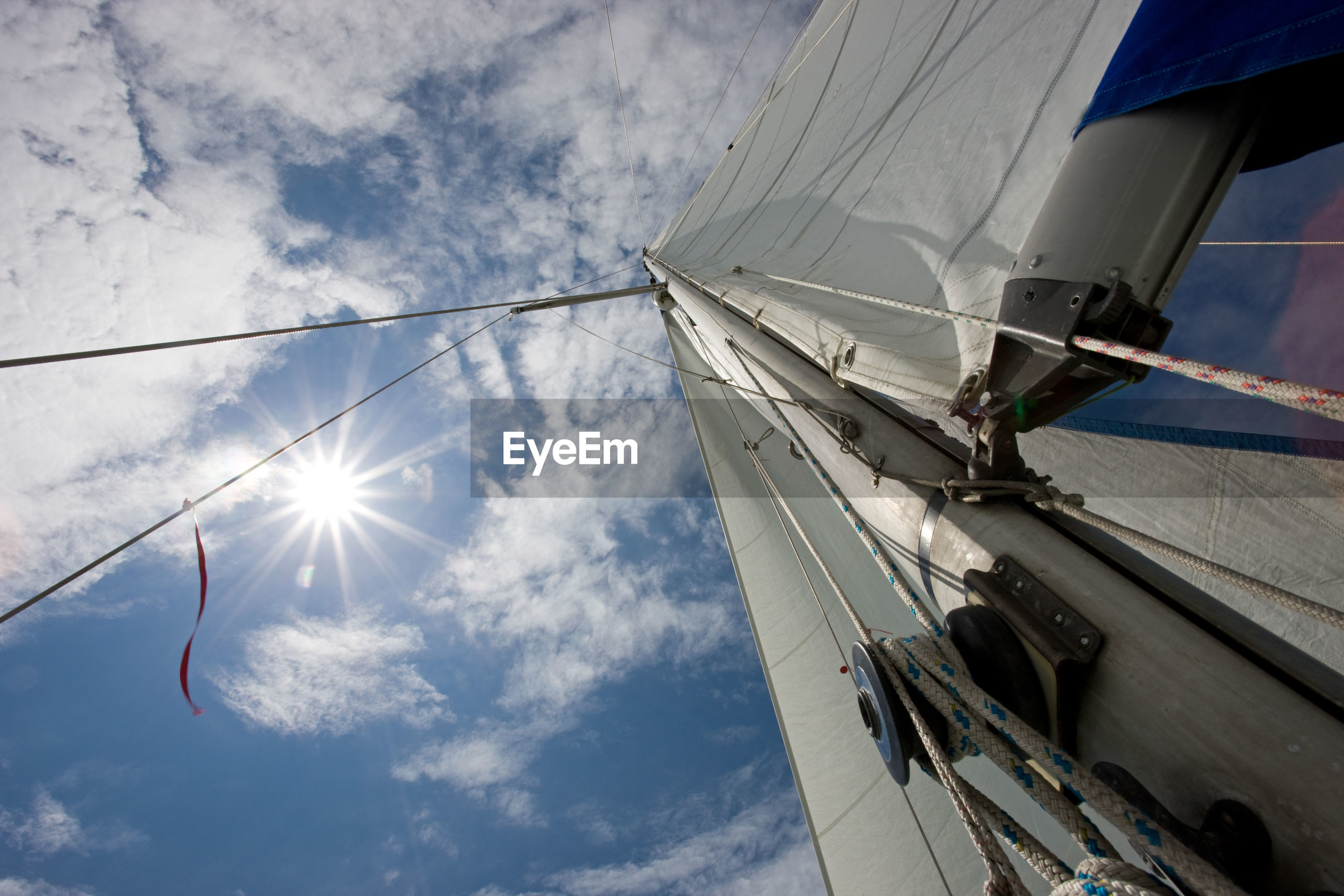 Cropped image of boat against sky