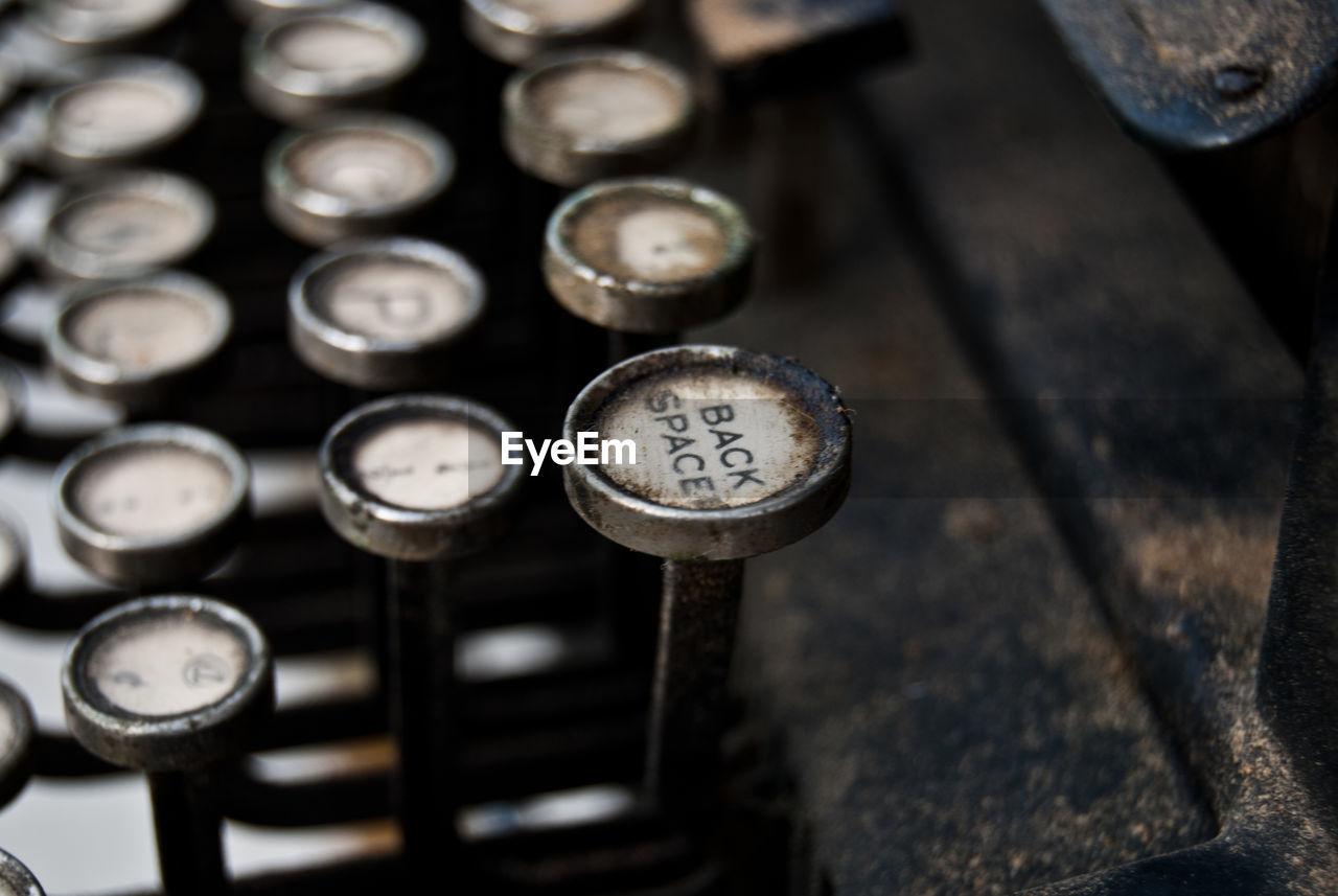 Cropped Image Of Antique Typewriter