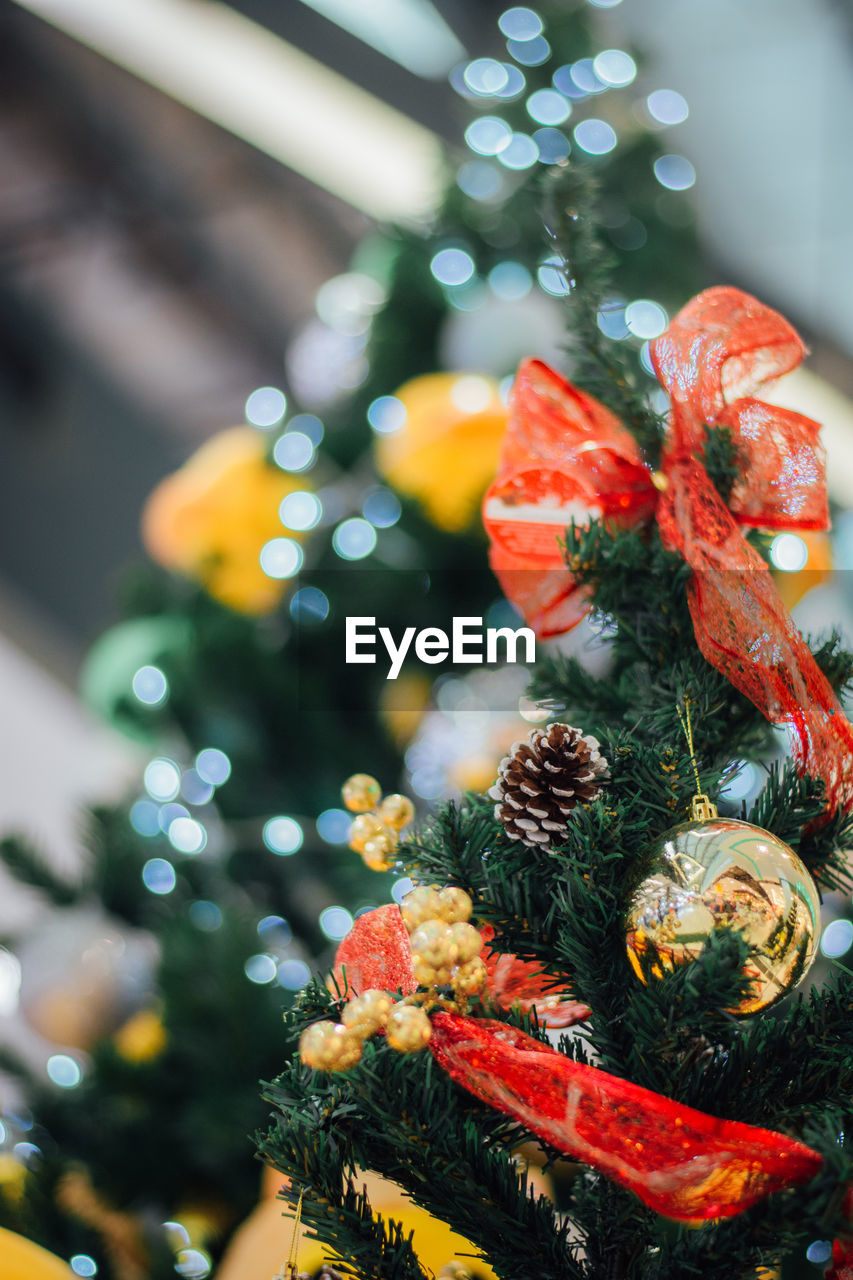 close-up, focus on foreground, no people, decoration, holiday, christmas, celebration, food, food and drink, christmas decoration, plant, christmas tree, freshness, selective focus, indoors, tree, healthy eating, still life, christmas ornament