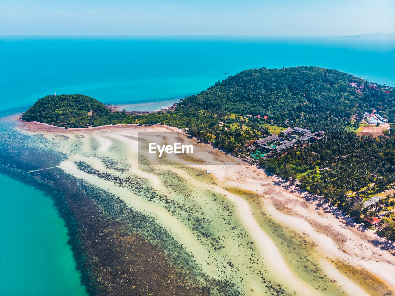 sea, water, beach, land, scenics - nature, sky, beauty in nature, nature, plant, day, no people, aerial view, sand, tranquility, tranquil scene, coastline, tree, outdoors, green color, bay
