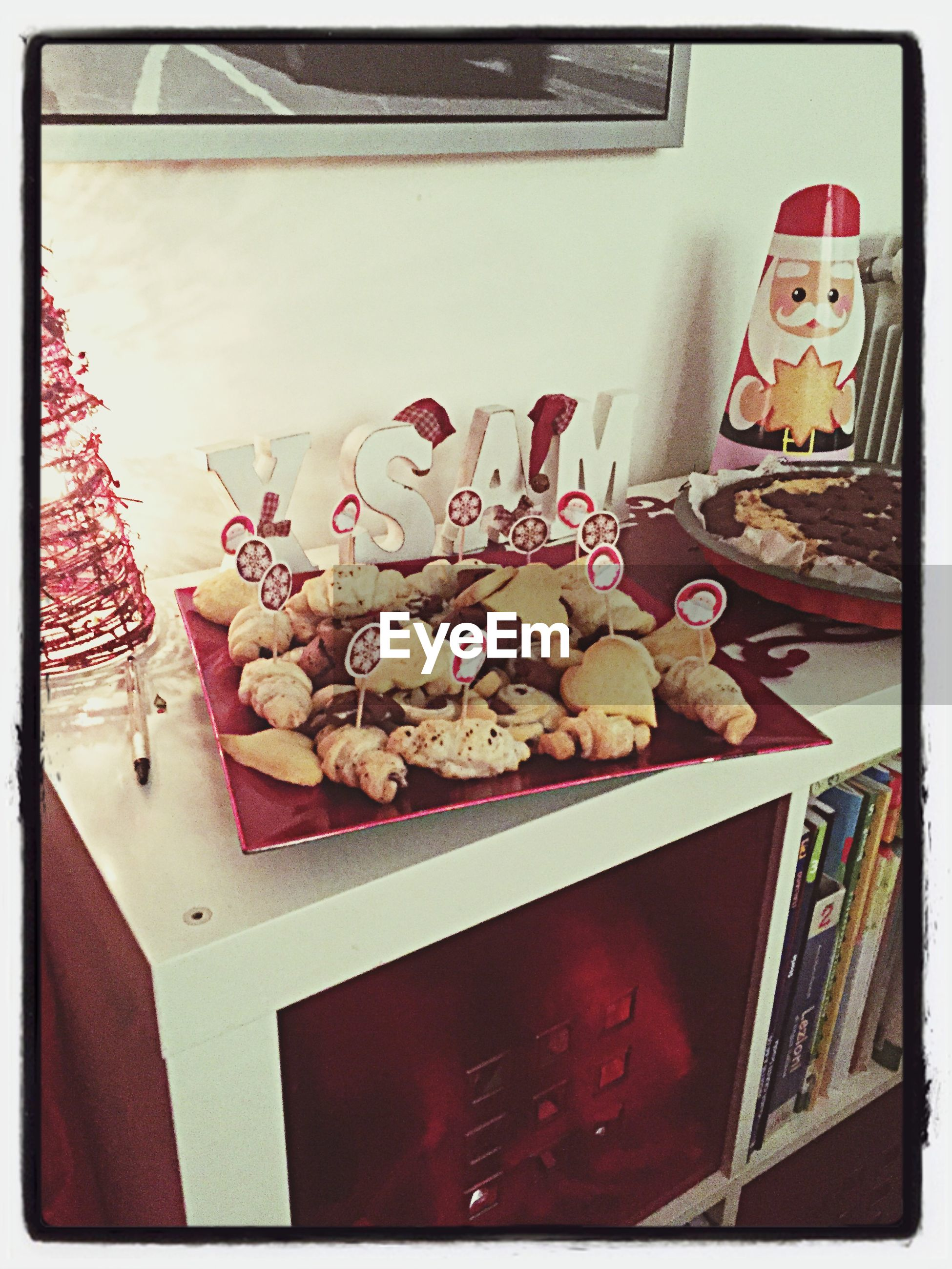 indoors, transfer print, food, food and drink, still life, auto post production filter, freshness, table, sweet food, high angle view, variation, no people, home interior, close-up, healthy eating, directly above, decoration, box - container, dessert, large group of objects