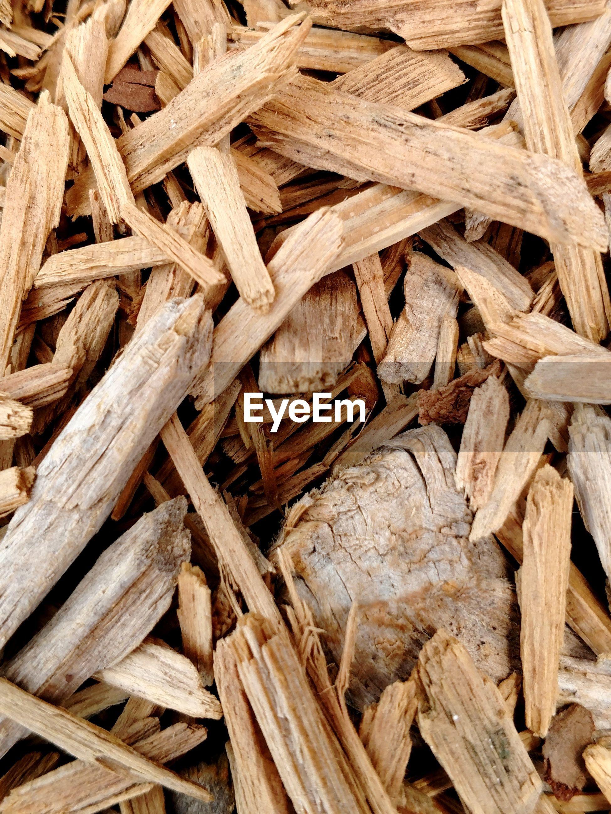 Full frame shot of firewood pile