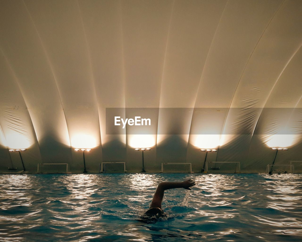 water, swimming pool, illuminated, swimming, no people, indoors, nature, day