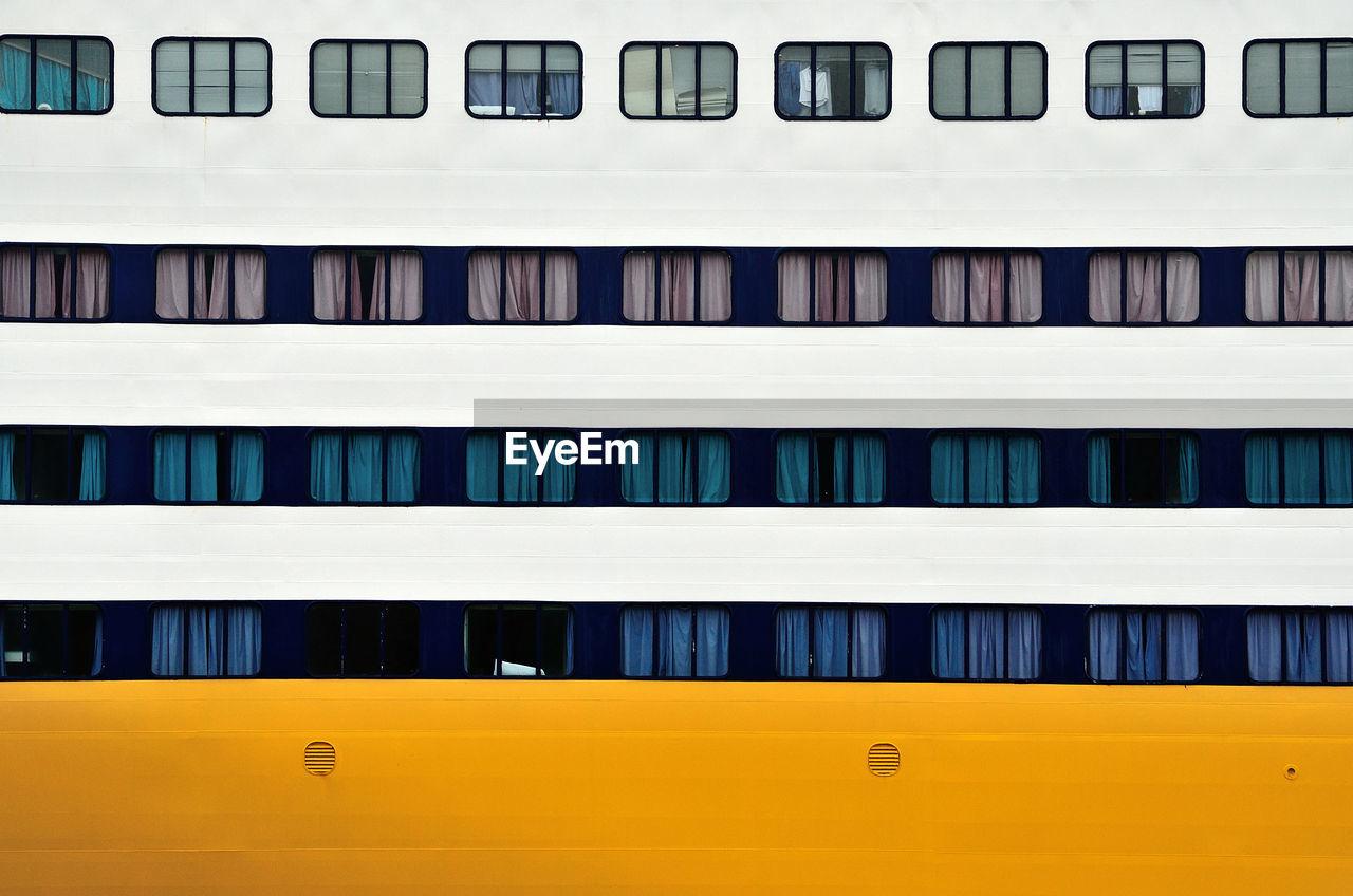 Full frame shot of cruise ship