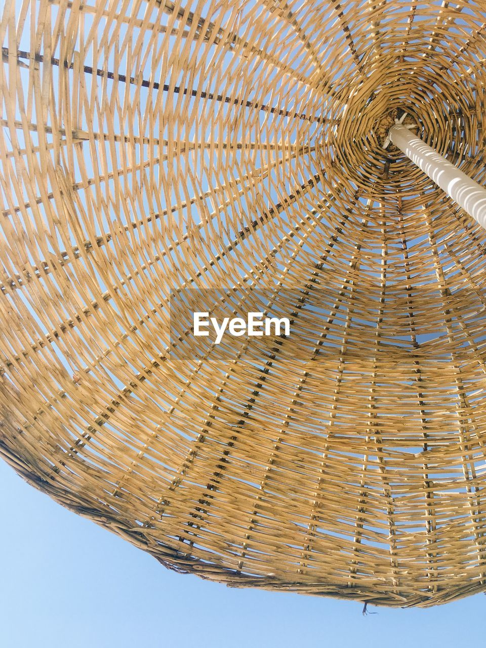 no people, basket, low angle view, close-up, day, outdoors, sky