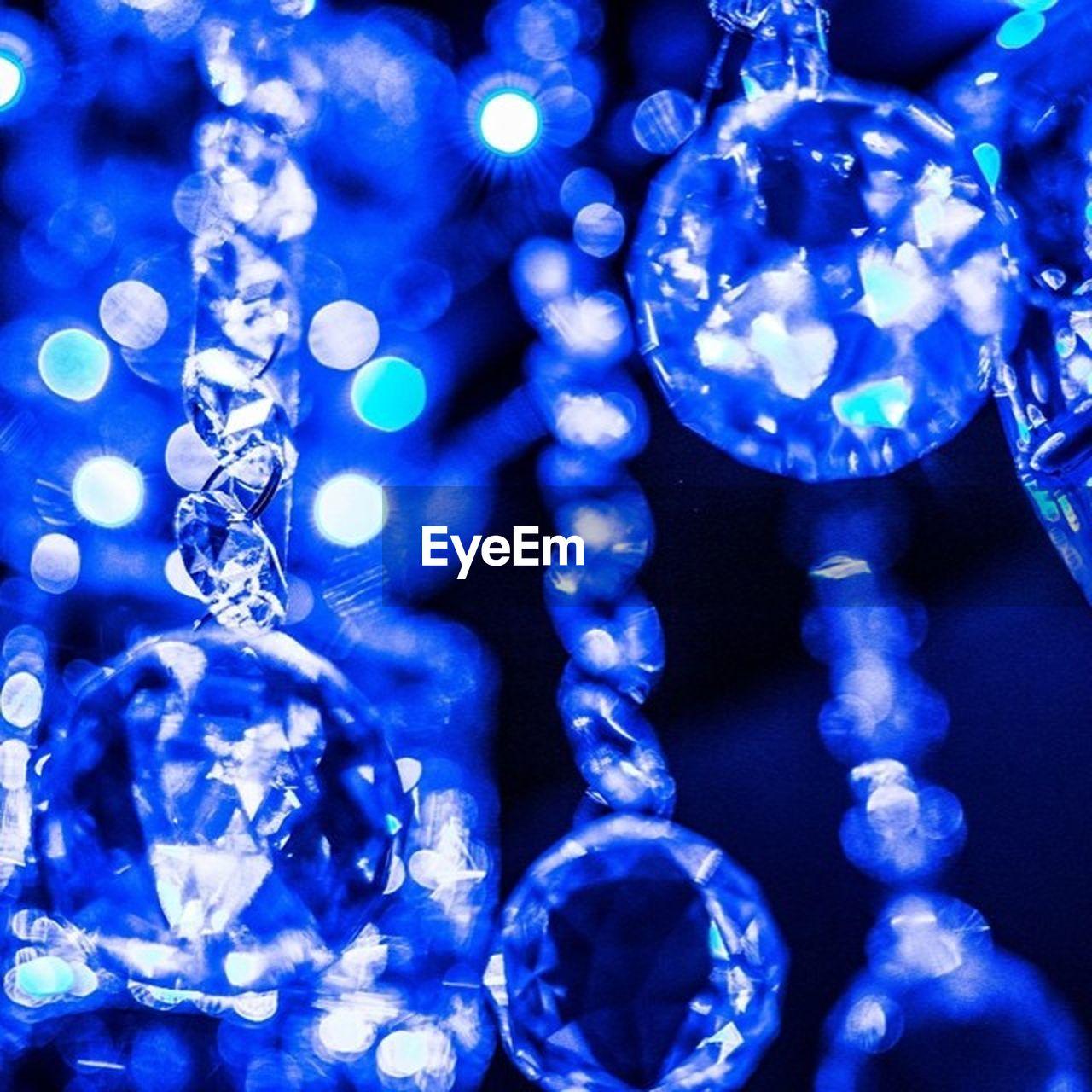 decoration, celebration, blue, hanging, christmas decoration, close-up, christmas, no people, christmas ornament, shiny, indoors, bauble, studio shot, full frame, crystal, illuminated