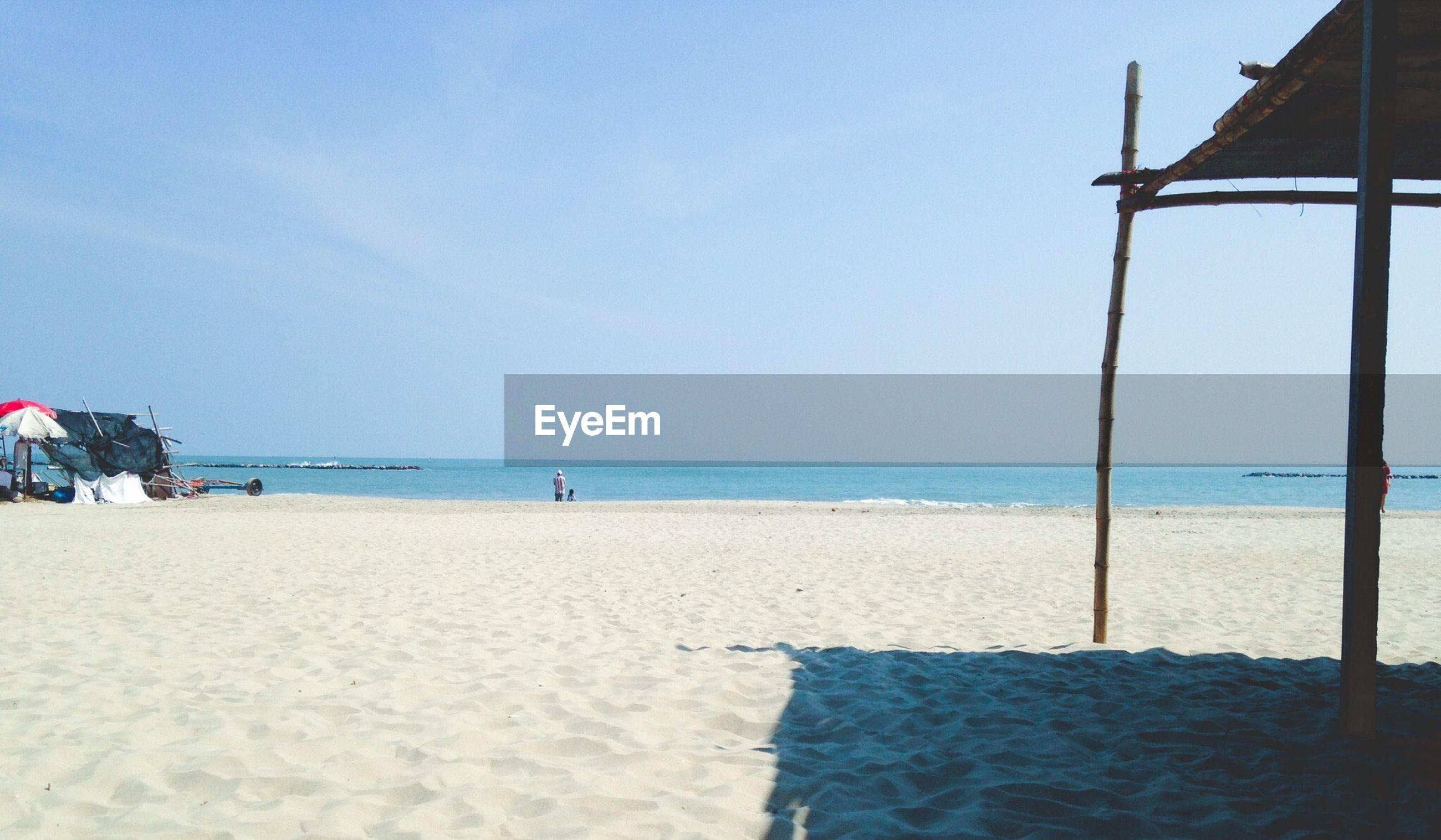 View of chao samran beach against sky