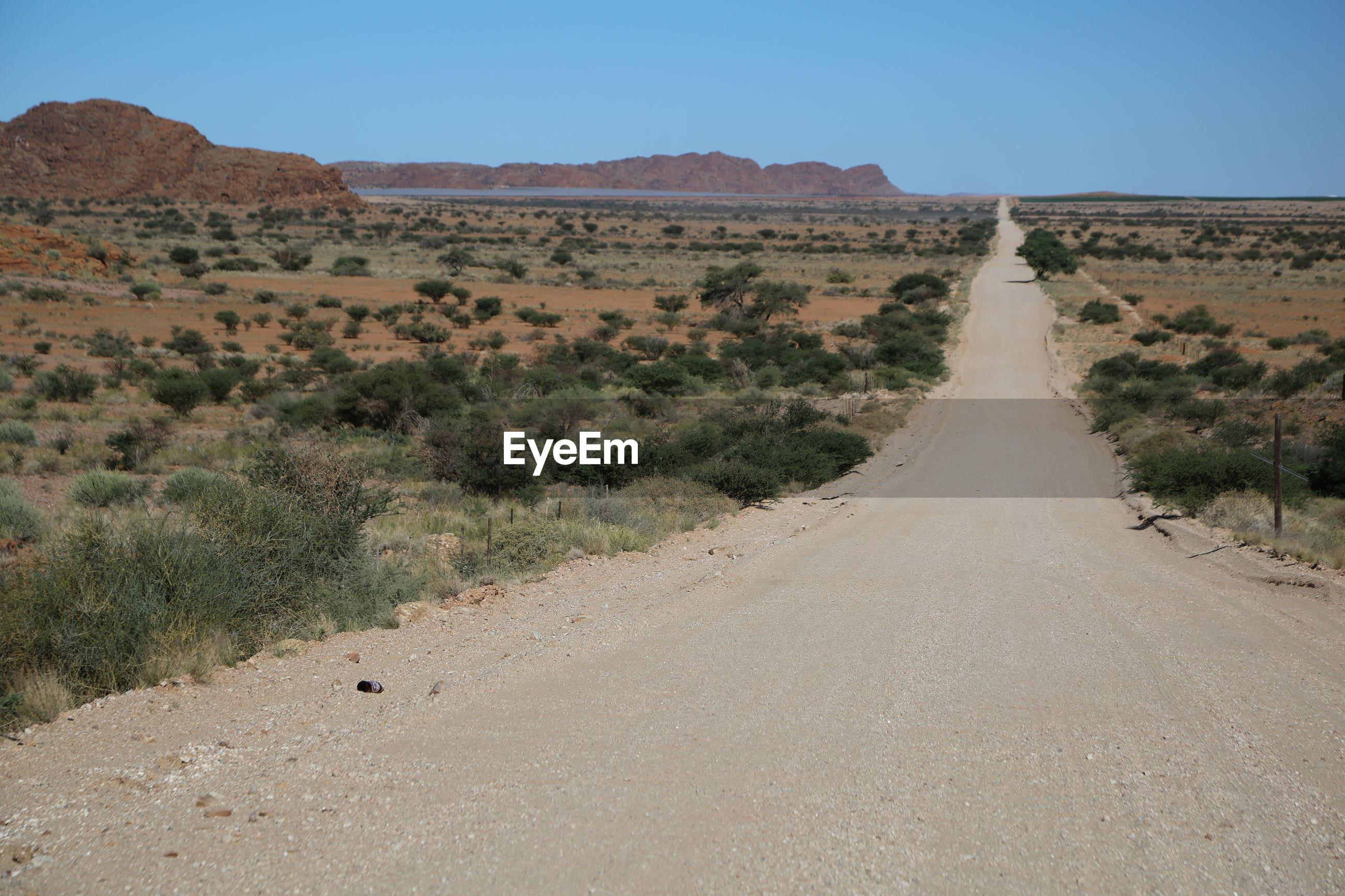 Empty road through desert