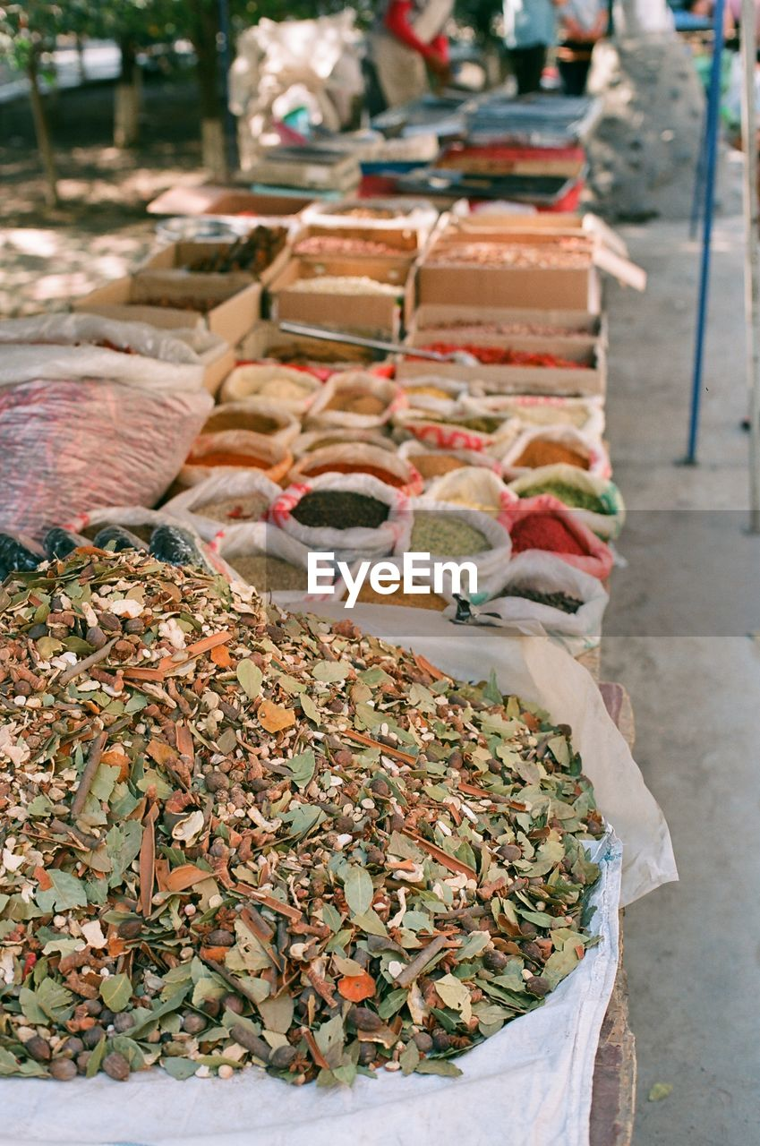 food, food and drink, for sale, market, freshness, retail, large group of objects, market stall, abundance, small business, container, business, variation, focus on foreground, choice, day, sale, no people, heap, wellbeing, retail display, outdoors, dried