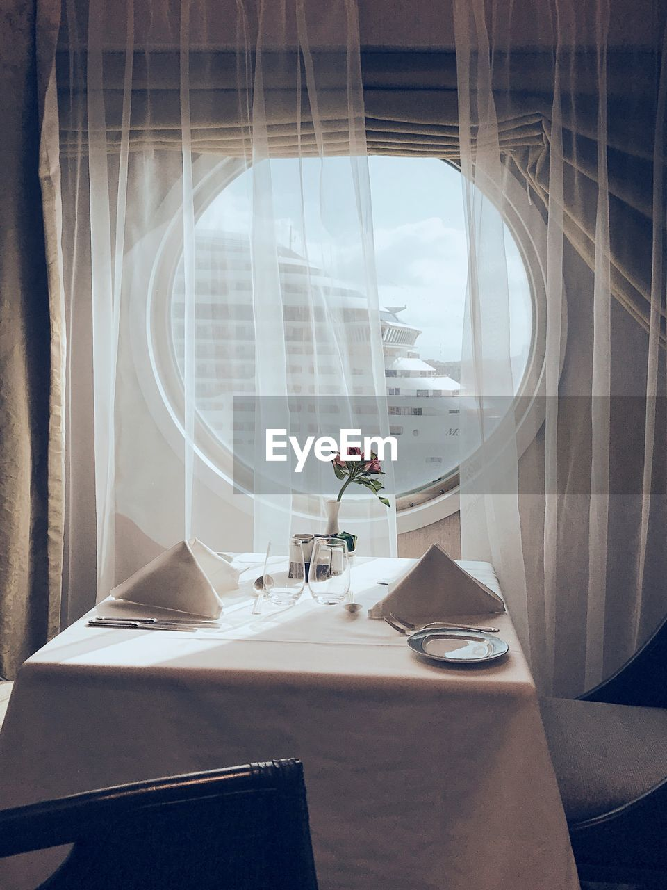 View Of Table By Window In Cruise