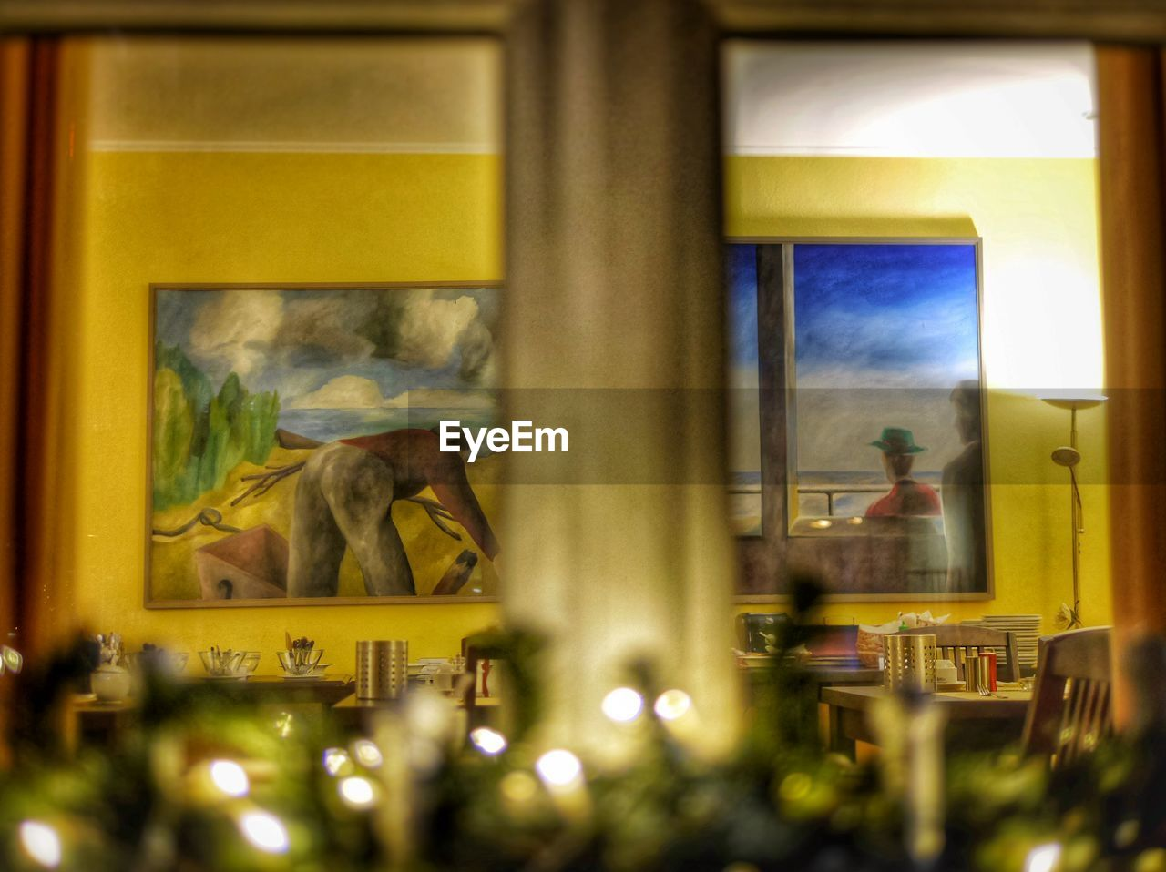focus on background, indoors, selective focus, no people, animal themes, day, mammal