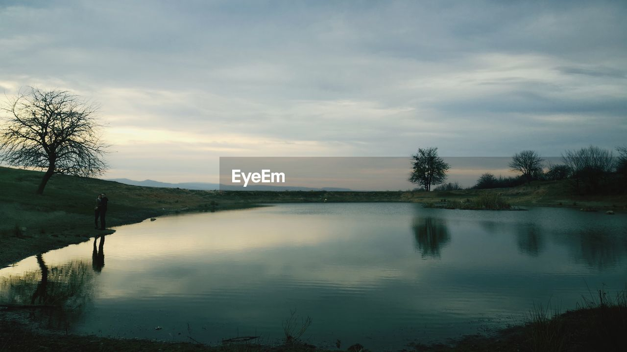 water, sky, cloud - sky, reflection, tranquil scene, tranquility, lake, scenics - nature, tree, beauty in nature, no people, plant, nature, non-urban scene, sunset, idyllic, outdoors, landscape, reflection lake