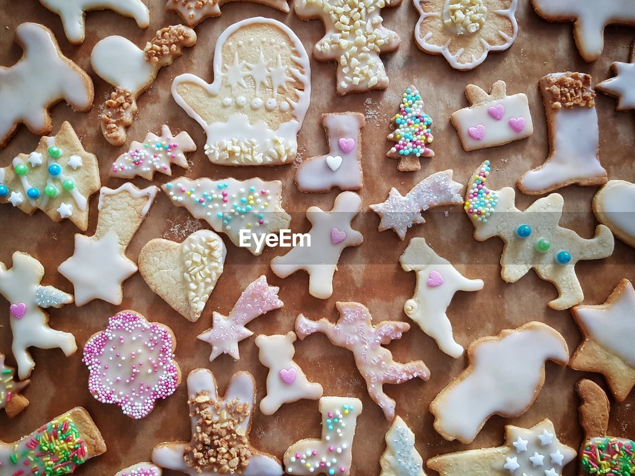 Full Frame Shot Of Cookies On Table