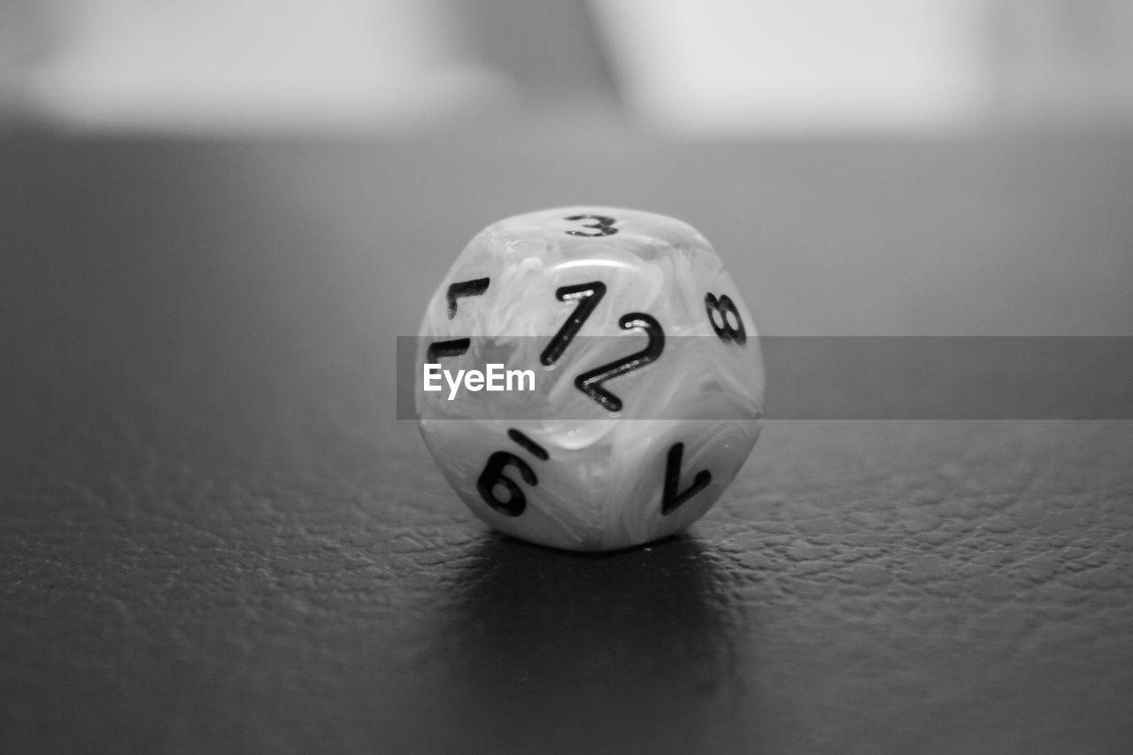 Close-Up Of Dice On Table
