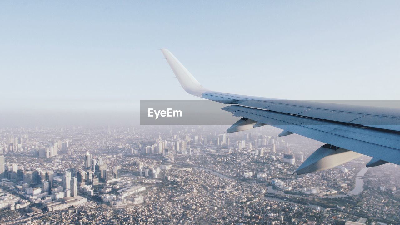 Cityscape Seen From Airplane