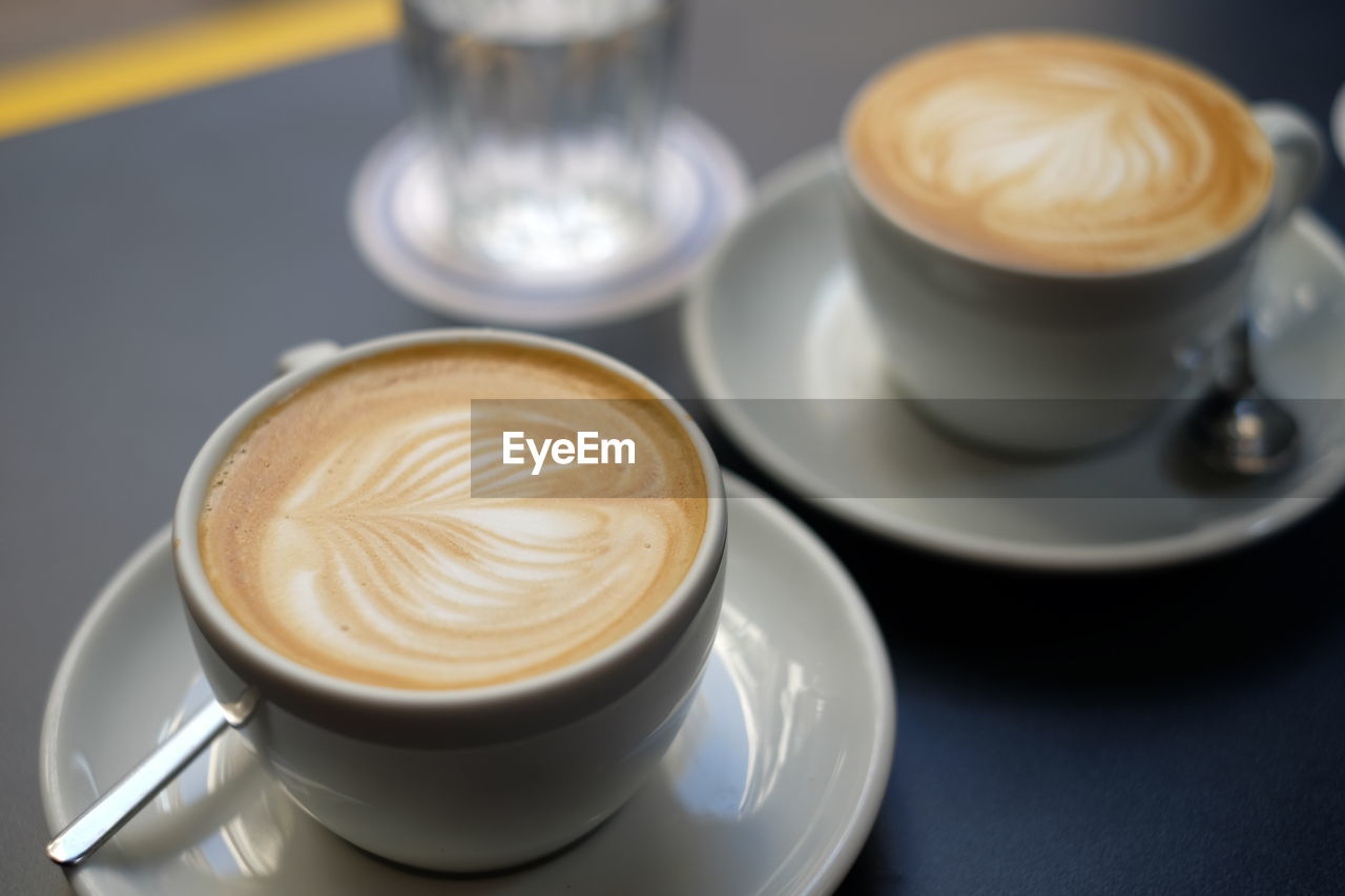Close-Up Of Coffee Served In Restaurant