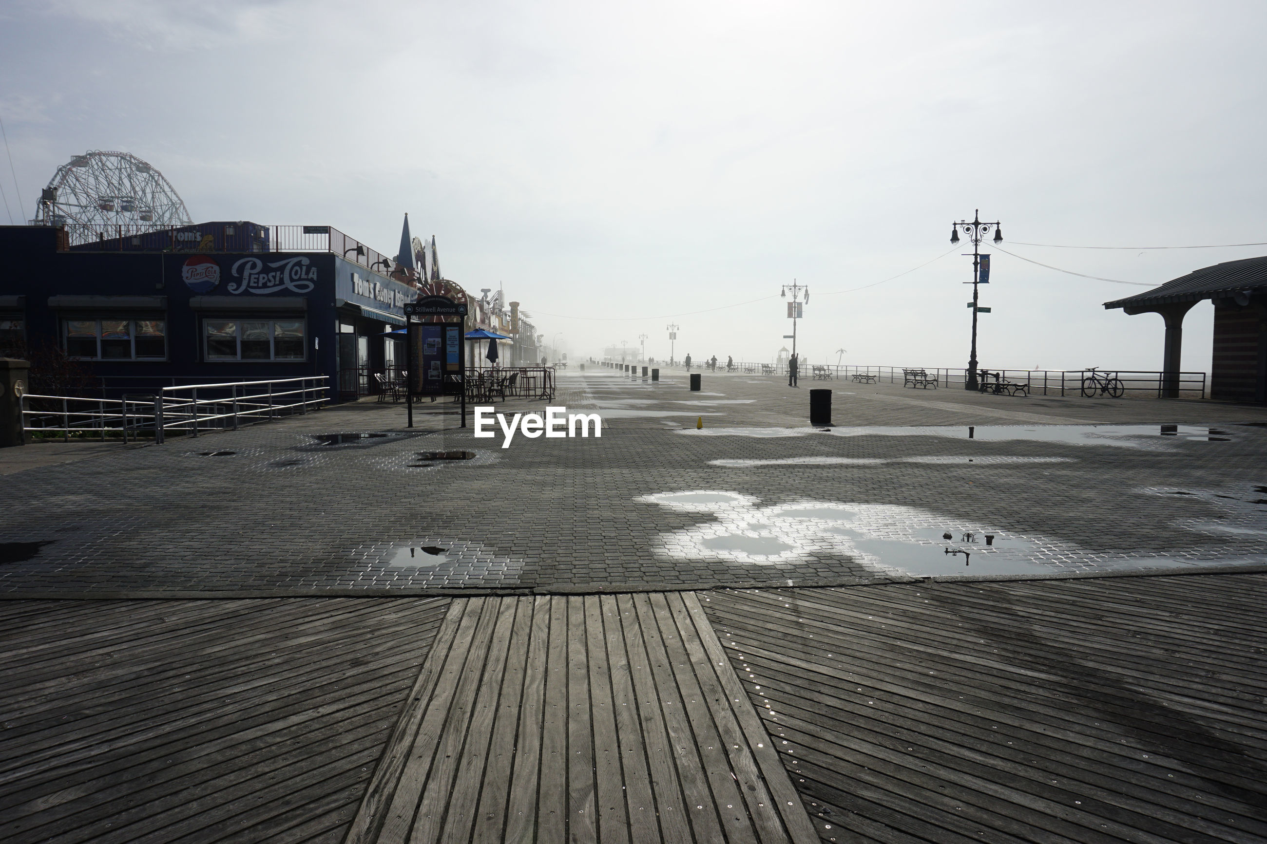 VIEW OF PIER ON CITY BUILDINGS