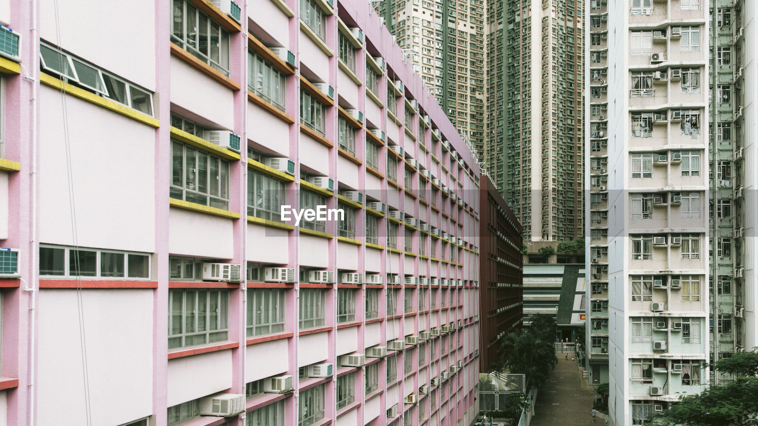 Full frame shot of apartment buildings